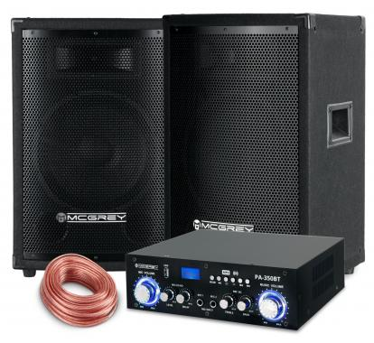 McGrey PA set completo PowerDJ-1500 800W