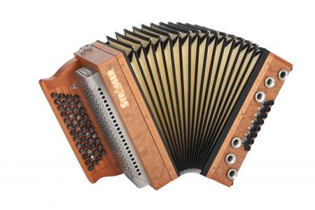 Strasser 4/III Hoamat Harmonika G-C-F-B mit X-Bass, Rüster Maser