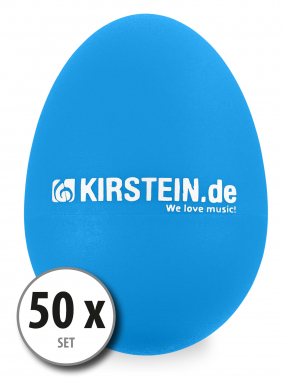 50x Kirstein ES-10B Egg Shaker blau Medium Set