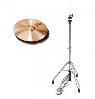 "Paiste PST 7 14"" Light Hi-Hat + HiHat Maschine SET"