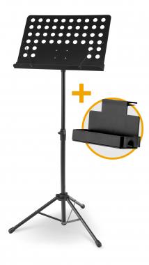 McGrey 11940 Orchesterpult Lochblech mit Notenklemmen Set inkl. Ablagebox