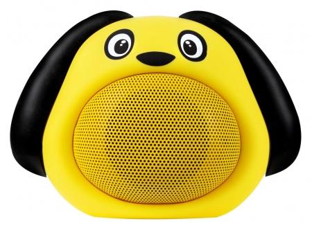 """iCutes Bluetooth-Lautsprecher """"Dog"""" Gelb"""