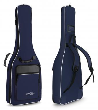 Rocktile Classical Guitar Gig Bag Padded + Backpack Straps Blue