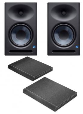 Presonus Eris E8 XT Aktives Studiomonitor-Paar inkl. Absorberplatten