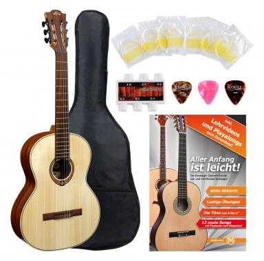 LAG OCL70 Occitania 70 4/4 Konzertgitarre Starter Set
