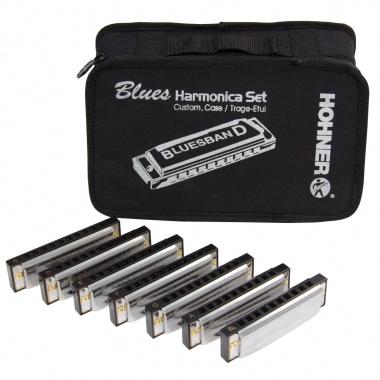 Hohner Starter Set Blues Harmonika 7x im Etui