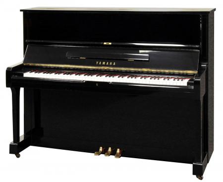 Yamaha U1  Klavier schwarz poliert - Generalüberholt