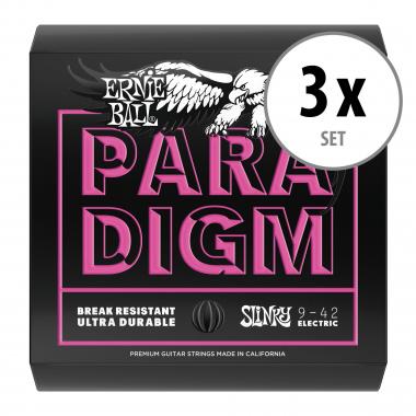 3er Set Ernie Ball 2023 Paradigm Super Slinky