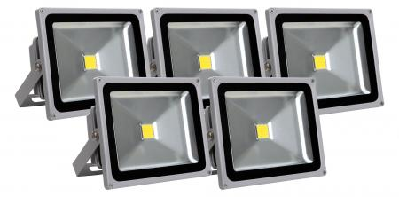 Set de 5 focos FL-2030 LED IP65 30 W 3300 Lumen
