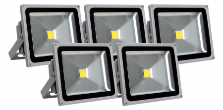 Showlite FL-2030 LED faretto IP65 30 Watt 3300 Lumen SET 5 pezzi