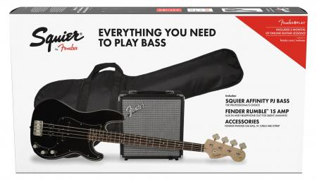 Fender Squier Affinity PJ Bass Pack BLK GIG