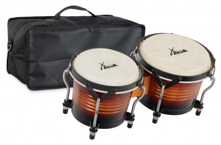 XDrum Bongo Pro Sunburst SET incl. Bongo carrying bag