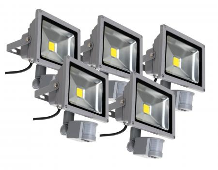 showlite FL-2020B faretto led IP65 20W 2200 lumen sensore Movimento 5 pezzi