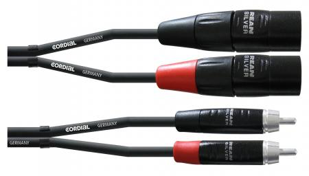 Cordial CIU MC Silverline, Cinch / XLR Stecker 3 m