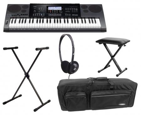Casio CTK-7200 Keyboard Deluxe Set inkl. Ständer, Bank, Kopfhörer & Tasche