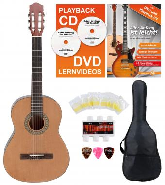 Calida Loretta Guitare de Concert 7/8 nature Starter Set