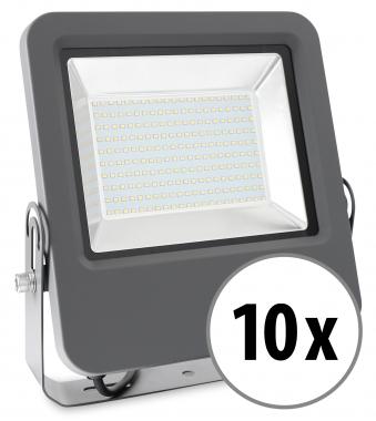 10x Showlite FL-4150 NW LED Fluter IP65 150 Watt 12000 Lumen neutral-weiß Set