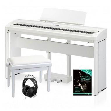 Kawai ES-8 SW Stagepiano Weiß Deluxe SET inkl. Ständer, Pedal, Bank, Kopfhörer und Schule