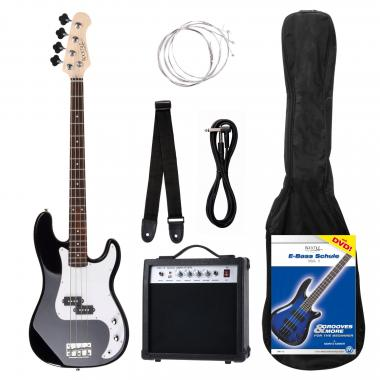 Rocktile Groovers Pack PB E-Bass Set Black  - Retoure (Zustand: sehr gut)