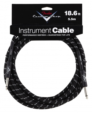 Fender Custom Shop Cable Black Straight 5,5m