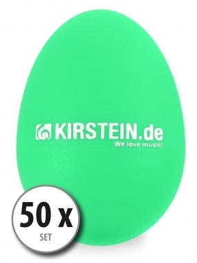50 x Kirstein ES-10G Egg Shaker Grün Set