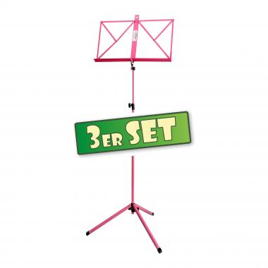 Three-piece set: Classic Cantabile Music Stands, pink