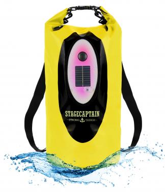 Stagecaptain DB-20Y 20 litres drybag avec haut-parleur Bluetooth et LED jaune clair