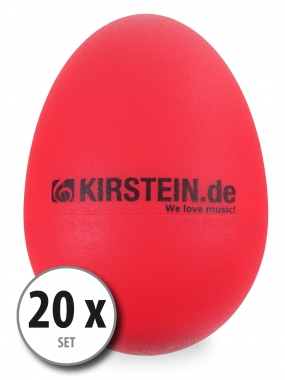 20-Piece Set Kirstein ES-10R Egg Shaker – Red