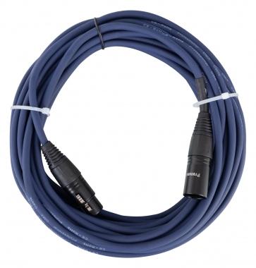 Pronomic Stage DMX3-10 DMX-Kabel 10m blau mit Goldkontakten