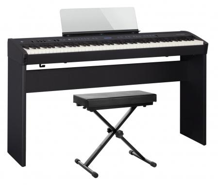 Roland FP-60 BK Stagepiano schwarz Set inkl. Ständer und Bank
