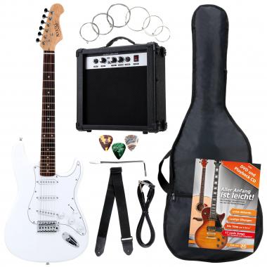 Rocktile Banger's Pack E-Gitarren Set, 8-teilig White  - Retoure (Zustand: gut)