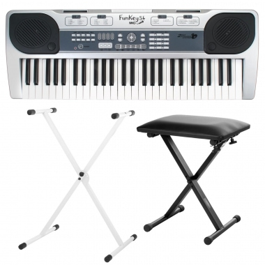 FunKey 54-MIC Battery Keyboard Set with stand and stool