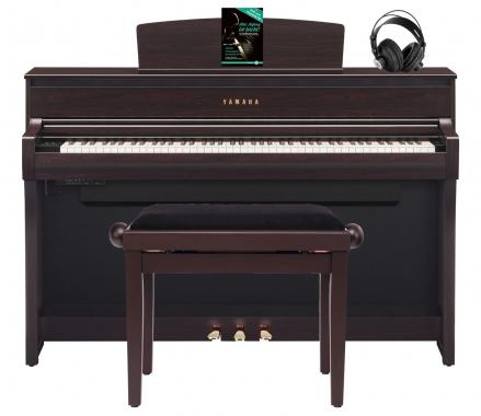 Yamaha clp 675 r digitalpiano rosenholz set mit kopfh rer for Yamaha clp 675