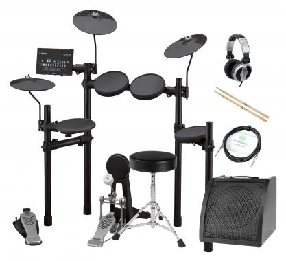 Yamaha DTX452K Compact E-Drum Set inkl. Verstärker, Kopfhörer, Drumhocker & Sticks