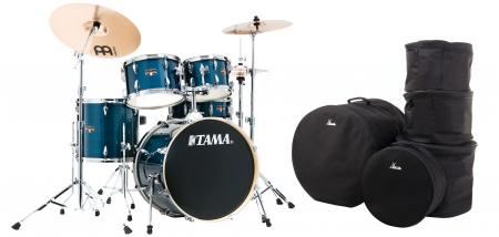Tama IE50H6W-HLB Imperialstar Drumkit Hairline Blue Set inkl. Gigbags
