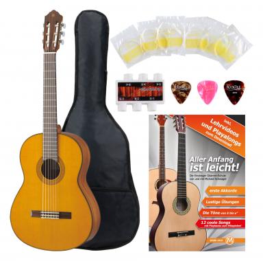 Yamaha CG142 C Konzertgitarre Zeder + Zubehörset