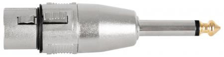 Pronomic AD-JMXF Adapter 6,3mm Mono-Klinke male / XLR female