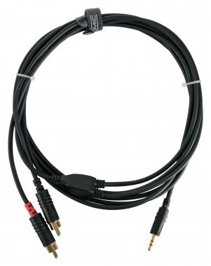 Cable de audio Pronomic Stage J3RC-3m 3,5 jack stereo, 3 m negro