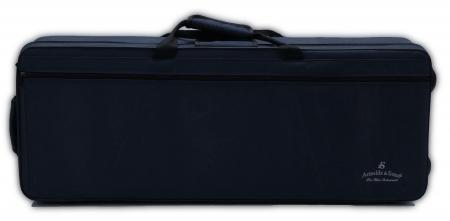 AS Etui für Tenorsaxophon, Schaumkoffer dunkelblau mit Rucksackgurt Aussteller