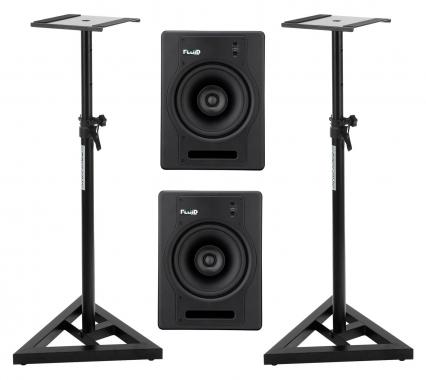 Fluid Audio FX8 Aktiv-Studiomonitor Stativ Set