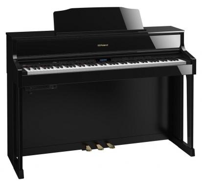 Roland HP605-PE Digitalpiano Schwarz Hochglanz