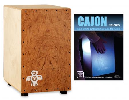 XDrum PERC CP-482 Cajon Peruana Hardwood Set inkl. Cajonschule