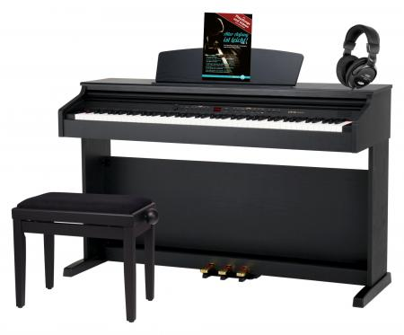 Classic Cantabile DP-50 SM Electric Piano, black matt, set with bench, headphones