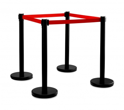 Stagecaptain PLS-200B Barricade Crowd Direction System – Black 4-Piece SET