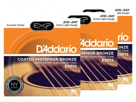 D'Addario EXP15 Extra Light - 3er Pack