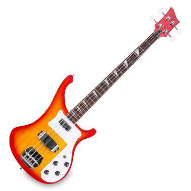 Rocktile Redneck Electronic Bass Red Sunburst
