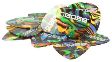Boss BPK-12-AH Zelluloid Plektrum Heavy 12er Pack Abalone