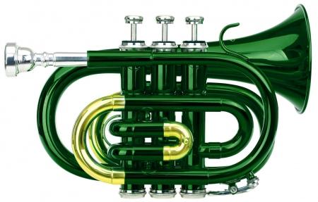 Classic Cantabile Brass TT-400 Bb-Taschentrompete grün