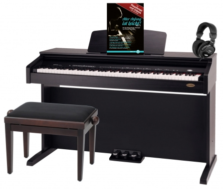 Classic Cantabile DP-210 RH digital piano rosewood set incl. bench, headphones