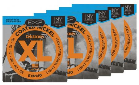 D'Addario EXP140 Light Top/Heavy Bottom - 5er Pack